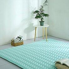 VClife® Teppich Polyester Yoga Kinder Spielteppich Baby Krabbeldecke Schlafzimmer Wohnzimmer Teetisch Fenster Boden Studiozimmer Weich 190 x 200cm Aquablau
