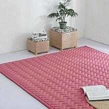 VClife® Teppich Polyester Yoga Kinder Spielteppich Baby Krabbeldecke Schlafzimmer Wohnzimmer Teetisch Fenster Boden Studiozimmer Weich 150 x 190cm Rosaro