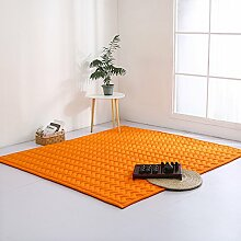 VClife® Teppich Polyester Yoga Kinder Spielteppich Baby Krabbeldecke Schlafzimmer Wohnzimmer Teetisch Fenster Boden Studiozimmer Weich 190 x 200cm Orange
