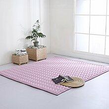VClife Teppich Polyester Yoga Kinder Spielteppich Baby Krabbeldecke Schlafzimmer Wohnzimmer Teetisch Fenster Boden Studiozimmer Weich 70 x 170cm Lavendel