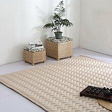 VClife® Teppich Polyester Yoga Kinder Spielteppich Baby Krabbeldecke Schlafzimmer Wohnzimmer Teetisch Fenster Boden Studiozimmer Weich 190 x 200cm Champagner