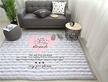 VClife® Teppiche Kinderteppich Baby Krabbeldecke Kinder Geschenk Spielteppich Yoga Matte für Schlafzimmer Wohnzimmer Studiozimmer Balkon 150 x 200cm Herz