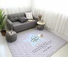 VClife® Teppiche Kinderteppich Baby Krabbeldecke Kinder Geschenk Spielteppich Yoga Matte für Schlafzimmer Wohnzimmer Studiozimmer Balkon 150 x 200cm Stern