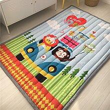 VClife® Teppiche Kinderteppich Baby Krabbeldecke Kinder Spielteppich Geschenk Yoga Matte Schlafzimmer Wohnzimmer Kinderzimmer Dekoartikel 140 x 200cm Affe Löwe