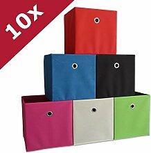 VCM 10er Set Faltbox Klappbox Sammelbox Stoffbox