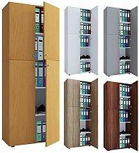 VCM Büroschrank Aktenschrank Bücherregal