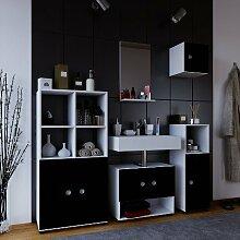 VCM Intola ll Badmöbel Set 5-Teilig Hochschrank,