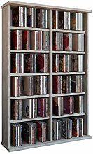 VCM Regal DVD CD Rack Medien Schrank Turm