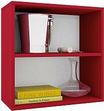 VCM Weino II Weinregal Serie/Weinschrank Regal/Standschrank, Holzdekor, Rot, 52 x 52 x 25 cm