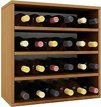 VCM Weino IV Weinregal Serie/Weinschrank Regal/Standschrank, Holzdekor, Buche, 52 x 52 x 25 cm
