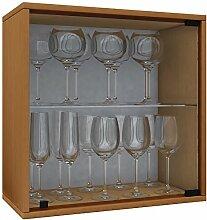VCM Weino V Weinregal Serie/Weinschrank Regal/Standschrank, Holzdekor, Buche, 52 x 52 x 25 cm