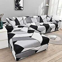 VEAI Sofabezug L Form Couchbezug Stretch 3 4 2