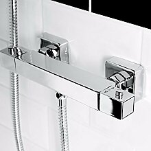 VeeBath Helix Thermostatic Square Bathroom Wall Mounted Mixer Shower Valve Bar Valve Tap Mixer - Thermostatic Bar Mixer by VeeBath