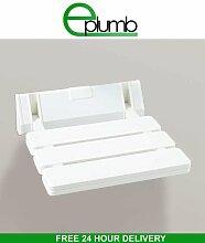 veebath Komfort Badezimmer Wand montiert Mobilität Hilfe Duschklappsitz Hocker in weiß max. 130kg