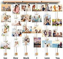 VEESUN Bilderrahmen Collagen Fotos Holz,