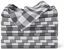 VEEYOO Karierte Stoffservietten aus Polyester