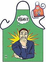 Vegan - Grillschürze Küchenschürze Backschürze
