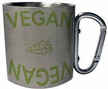 Vegan vegan carrots Edelstahl Karabiner