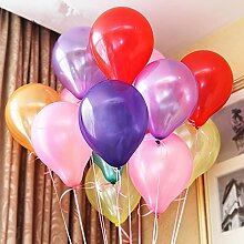 Vegkey Luftballons Bunt 100 Stück, Latex Party