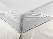 Velamen Matratzenschoner und Spannbetttuch Jersey, Wasserdicht und Atmungsaktiv, Zwei Produkte in einem, Weiss 160x200cm