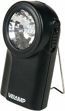 Velamp ID70LED Laternen-TasChenlampe, ABS-Hülle, 3 LED, 0.3 W, 3 Batterien R6 AA, SChwarz
