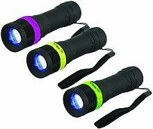 Velamp IN270 LED-Taschenlampe mit Zoom, 1 W, Schwarz