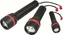 Velamp IRUB2LED TasChenlampe aus Gummi mit LED, 2 Batterien D