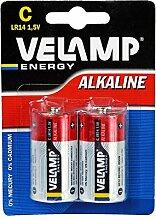 Velamp LR14/2BP Batterie 1/2 TasChenlampe LR14 C, Alkaline, Ro