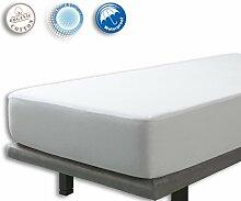 VELFONT – 2 in 1, Matratzenschoner und Spannbettlaken, wasserdicht und atmungsaktiv – verfügbar in verschiedenen Größen - 160x190/200cm