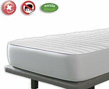 VELFONT – Anti-Milben Matratzen-auflage zum Wenden – 100x190/200cm – matratzen-topper | matratzenschoner | boxspringbett verfügbar in verschiedenen Größen