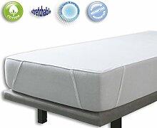 VELFONT – Frottee-Matratzenschoner aus Baumwolle, wasserdicht und atmungsaktiv und anpassbar mit 4 Gummibändern– verfügbar in verschiedenen Größen - 140x190/200cm