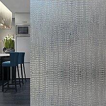 Velimax Dekorfolie Anti-UV Fensterfolie Sichtschutzfolie Leimfrei Fenster Aufkleber Sonnenschutz und Isolierung Fensterschutzfolie Selbstklebend 45x200cm