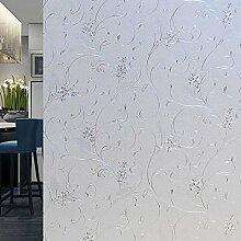 Velimax Fensterfolie Sichtschutzfolie Leimfrei Fenster Aufkleber Sonnenschutz und Isolierung Fensterschutzfolie Selbstklebend 90cmx200cm