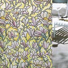 Velimax Ohne Kleber Sichtschutzfolie Privatsphäre Dekorfolie Fensterschutzfolie Fensterfolie Selbstklebend und Kein Klebstoff Sonnenschutz und Isolierung 90x200cm