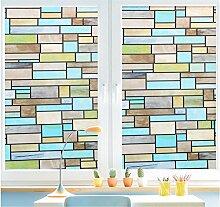 Velimax Privatsphäre Fensterfolie Dekorativ Glas Fenster Dekorfolie Leimfrei Fenster Aufkleber Sonnenschutz und Isolierung 40x200cm