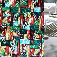 Velimax Privatsphäre Fensterfolie Sichtschutzfolie Ohne Kleber Selbsthaftend Fensterschutzfolie Sonnenschutz und Isolierung Selbstklebend und Kein Klebstoff 90x200cm