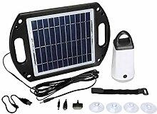 Velleman SOL22 Solar-Gartenleuchte Solarlampe mit Powerbank