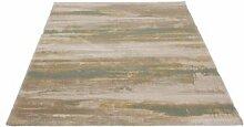 Velour Teppich Optimist Streifen grün blau 120 x 170 cm