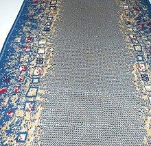 Velours Läufer Shiraz Blau Grau mit Bordüre B/100 Länge nach Wunsch lfm 16,90 EUR 100 x 960 cm