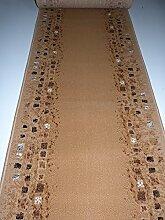 Velours Shiraz Läufer Beige mit Muster B/ 70 Läufer nach Maß Länge Wählbar lfm. 8,80 cm 70 x 340 cm