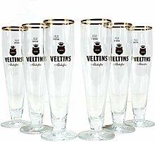 Veltins alkoholfrei Gläser 6x0,3l Biertulpe mit