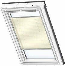 VELUX Original Plissee Dachfenster, CK06, Uni Creme