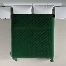 Velvet-Tagesdecke mit Karosteppung, grün, 260 ×