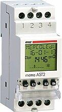 Vemer ve751400Dämmerungsschalter Astronomische Memo AST2-Hutschiene 6Programme, hellgrau
