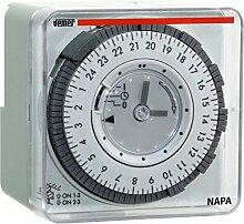 Vemer vp884100Zeitschalter elektromechanisch napa-d, Wandleuchte oder Panel, hellgrau