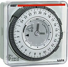 Vemer vp886600Zeitschalter elektromechanisch napa-rd, Panel, hellgrau