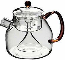 Vencer 1250 ml Glas-Teekanne mit herausnehmbarem