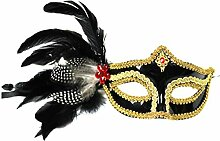 Venetian Ball Side Feather Maske Halloween