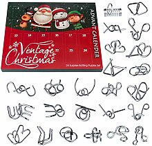 Vengo 24 STK Metall Knobelspiele Adventskalender