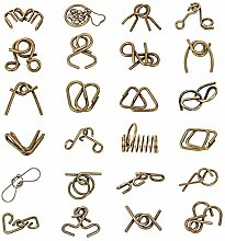 Vengo 24St. Metall Knobelspiele Set Rätsel